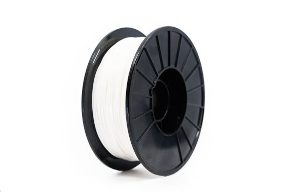White nylon spool
